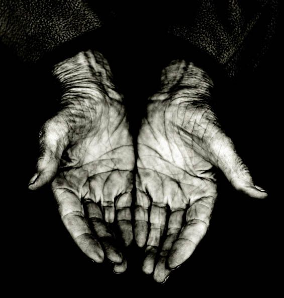 these beautiful hands, held newborn babies, wiped tears from others eyes and sweat from her brow, tended gardens, served meals...and clasped her hands in prayer at days end <3