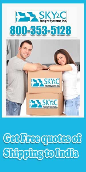 If you are looking for best company for relocating to India from USA visit sky2c.com and get cheap rates comparable.