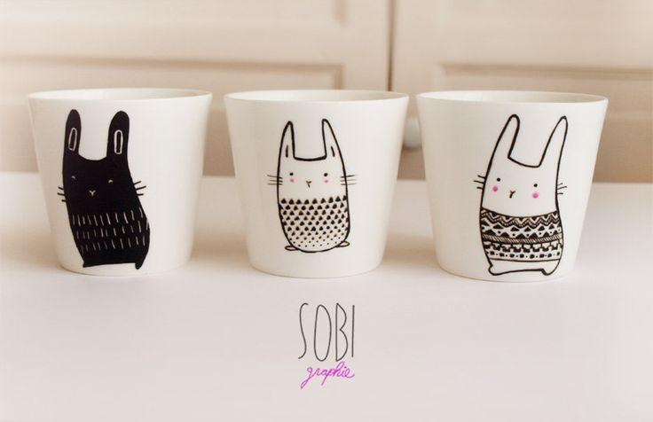 Tasse Lapin céramique / Sobi Graphie