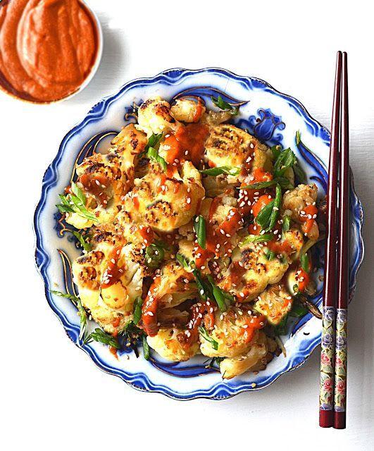 236 best korean eats images on pinterest korean food recipes korean cauliflower a healthy flavorful cauliflower dish with a korean sesame sauce macrobiotic too forumfinder Images