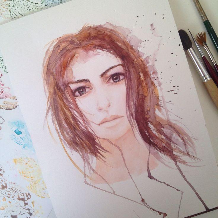 Watercolor portrait by Vólkova Tatiana