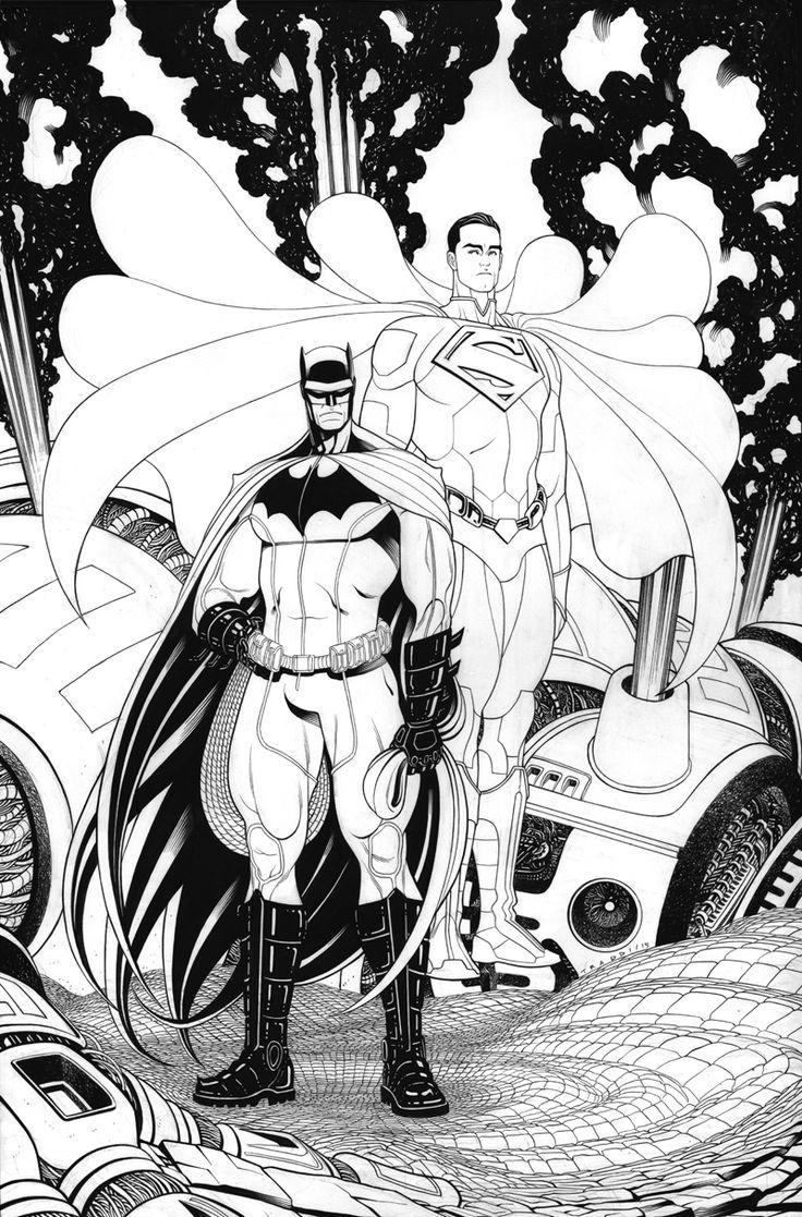 TRADDBLOG 2: Unpublished Batman/Superman cover by Tradd Moore