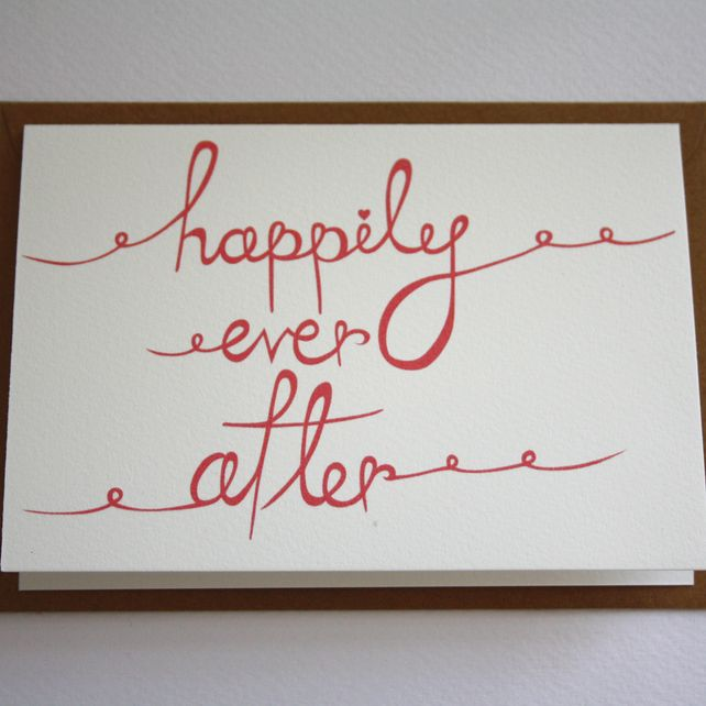 Happily ever after card, by Victoria Snape via Folksy, £3.00