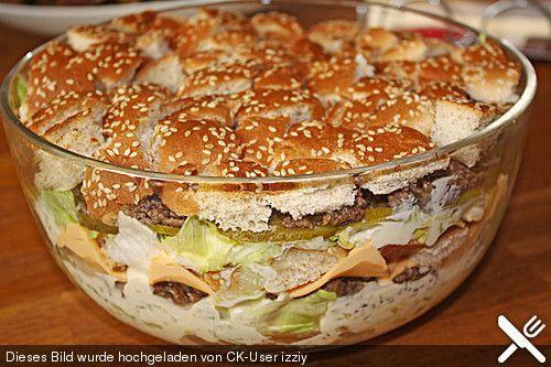 Big Mac Salat, ein beliebtes Rezept aus der Kategorie Party. Bewertungen: 236. Durchschnitt: Ø 4,6.