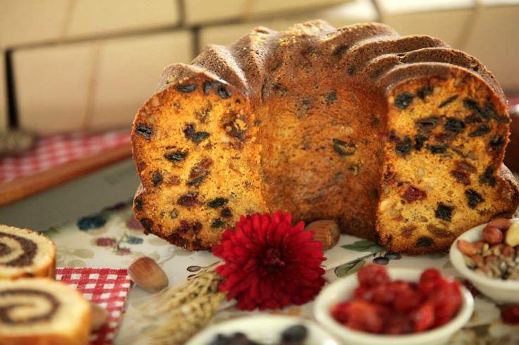 Кекс с сухофруктами и орешками! (Грецкий орех и миндальный, арахис, тыквенные семечки, чернослив, курага, сушеная клюква и вишня, а так же два вида изюма)