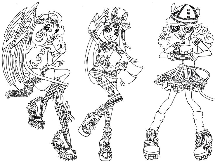 boo york brand boo students batsy claro isi dawndancer and kjersti trollson free printable monster high coloring page click her
