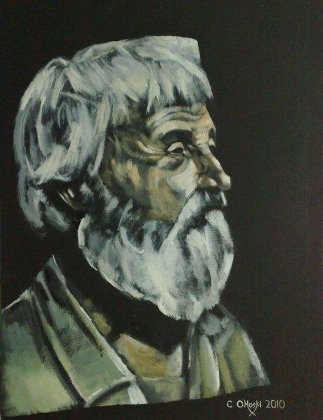 """Nobody's Home""  18"" X 24""  Acrylic On Canvas    Christopher O'Hoski  www.facebook.com/christopherohoski"