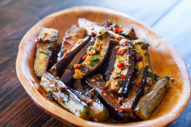 Chinese Eggplant with Spicy Garlic Sauce - replace the sugar with stevia and if making for two reduce the oil