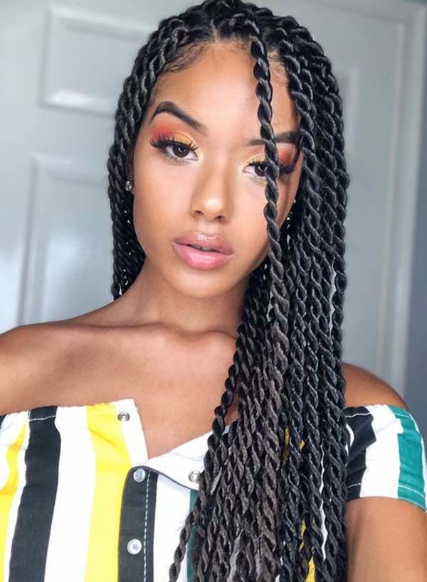 You Will Find Many Good Options For Twist Black Hairstyle Options Around You But Thes Twist Braid Hairstyles Senegalese Twist Hairstyles Braids For Black Hair