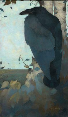 Raaf op berkenboom, Jan Mankes (1889-1920)