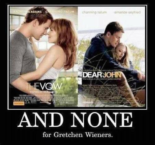 haha: Glen Coco, Poor Gretchen, Giggl, Channing Tatum, Gretchen Wiener, Mean Girls, Movie, Funnies Stuff, Gretchen Weiner