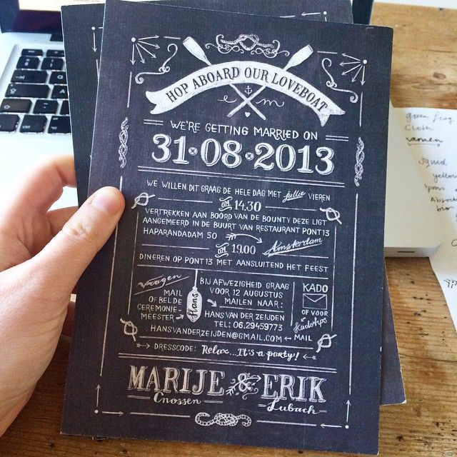 #weddinginvite #chalk #sailor #2013