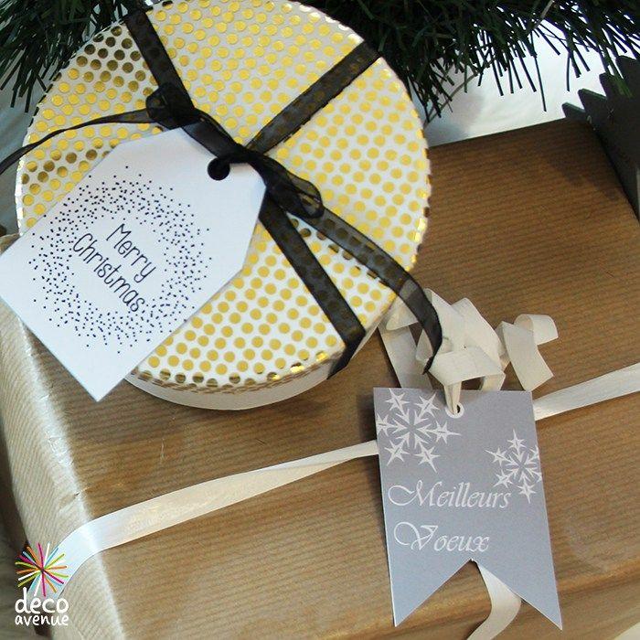Jolies étiquettes cadeaux à imprimer - Décoavenue - Cabinet de curiosités créatives