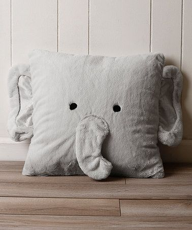 Another great find on #zulily! Gray Elephant Plush Faux Fur Pillow #zulilyfinds