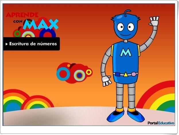 """Aprende con Max: """"Escritura de números del 1 al 9"""" (Juego de Matemáticas)"""