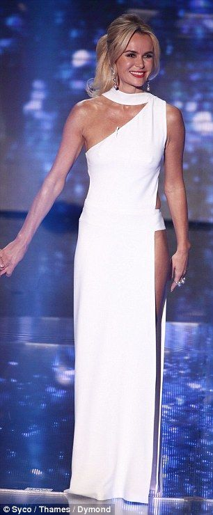 Britain's' Got Talent's Amanda Holden wows fans in sexy white dress for semi-finals | Daily Mail Online