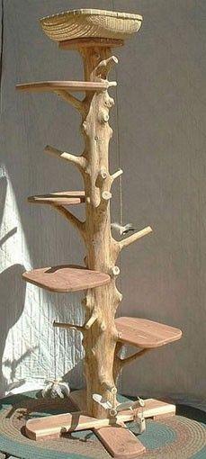 Cat tree. http://www.etsy.com/shop/stillponds $395.00, via stillponds on Etsy.