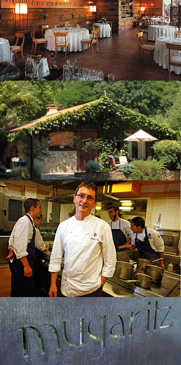 """# 3 Restaurant in the World - Mugaritz is located in Errenteria, Spain. It is run by Chef Andoni Aduriz who describes his style as techno-emotional cuisine. Mugaritz is short for """"muga eta haritza,"""" Basque for """"the oak at the border"""" between Astigarraga and Errenteria, Spain."""