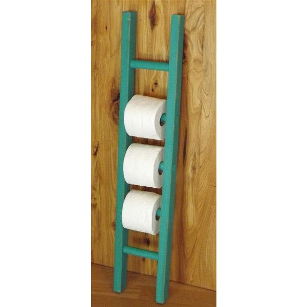 Ladder Toilet Paper Holder Rustic Bathroom Decor Farmhouse Distressed... ($38) ❤ liked on Polyvore featuring bath mats & rugs, bathroom, grey and home & living