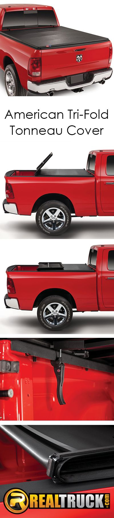 Protect your cargo from prying eyes and the elements by adding an American tri-fold tonneau cover. The American freedom soft tri-fold tonneau cover is an economical, easy-to-use truck bed cover designed to keep your cargo out of sight and out of the weather.