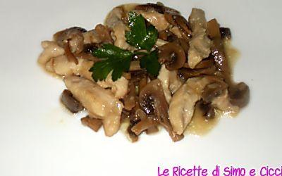 straccetti di pollo con funghi champignon