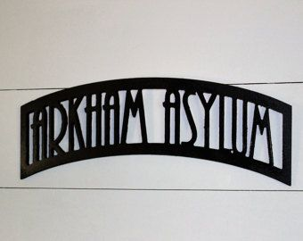 Arkham Asylum Wood Sign, Batman - Edit Listing - Etsy