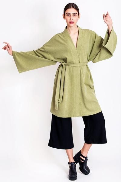 SALES - now €65.00 was €130.00.   Pistachio kimono by Chicks on Chic