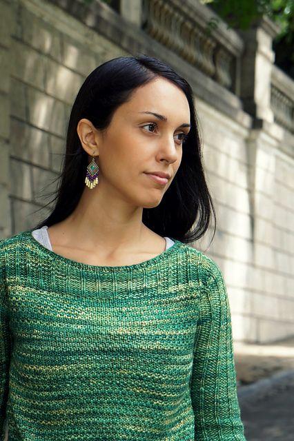 On the Grass by Joji Locatelli - sweater knit with Malabrigo Rios superwash yarn