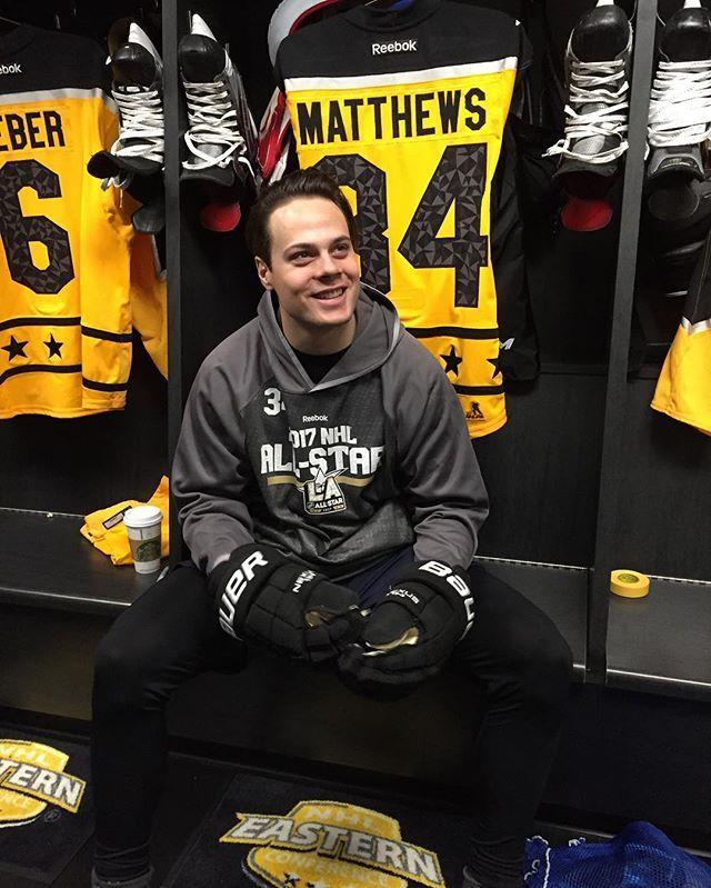 Auston Matthews getting ready. #NHLAllStar #TMLtalk