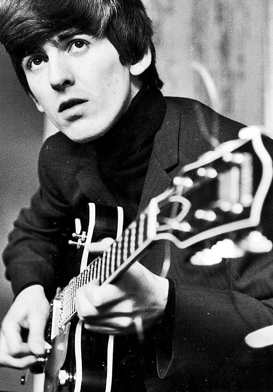 George Harrison, 1964. Who said Justin Bieber came up with 'the swoop'?