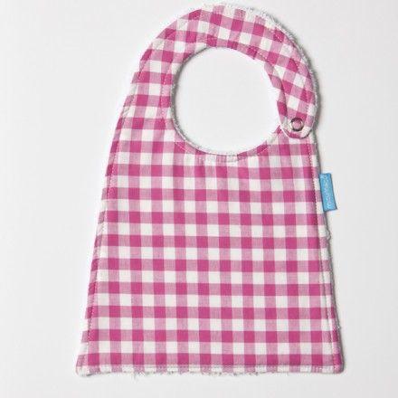 Babero Vichy Fúcsia en PePaPu.com. Todo lo que tu bebé necesita – PePaPu.com 9,95€