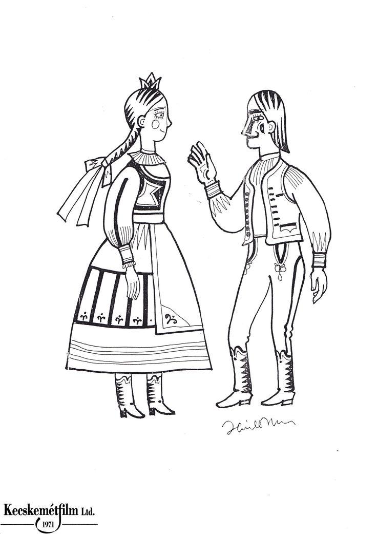 magyar népmesék kifestő, a kőszívű ember 7.,  http://www.magyarnepmesek.eu/download/files_in_category/3, Hungarian illustration, Hungarian folk tale coloring