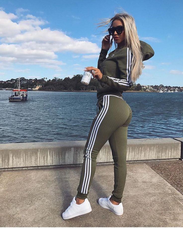 olive adidas track suit
