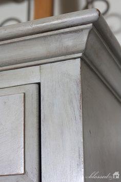 Annie Sloan Chalk Paint Paris Grey dresser/buffet makeover