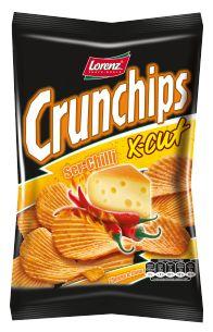 Ogień spotyka wodę, uległa nuta sera wpada w srogie tło chilli - ostry X-Cut na pewno wypali się na trwałe w Waszym podniebieniu ;) #Crunchips #chips #XCut #spicy #cheese #chilli