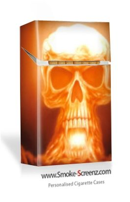 Cigarette case with a thought provoking design from www.smoke-screenz.com