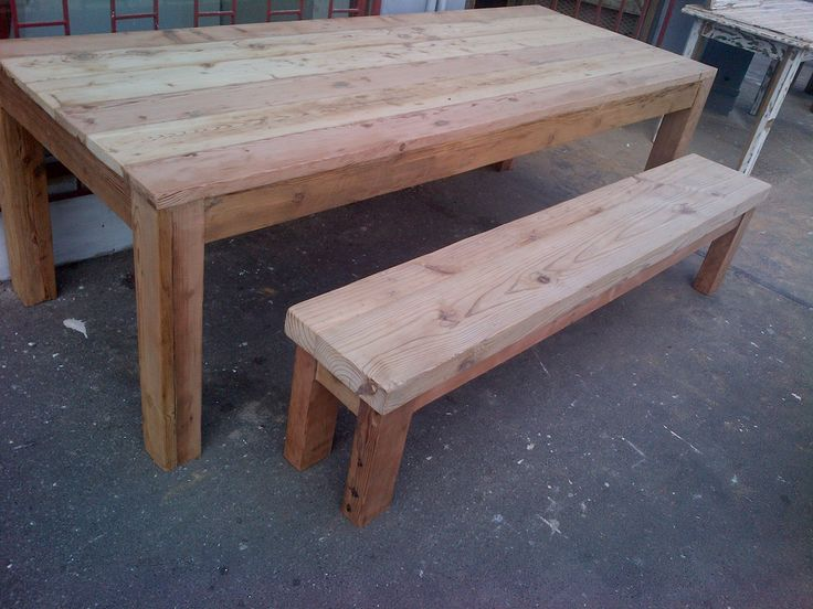 Rustic Table. Seats 10. Recycled and reclaimed wood with natural legs.  Oregon pine.