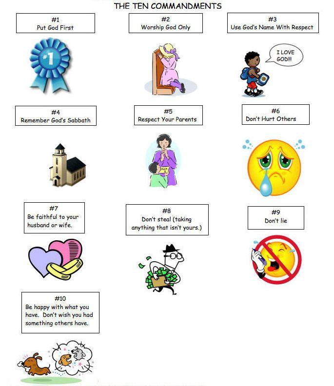 Ten Commandments Craft Ideas For Preschoolers