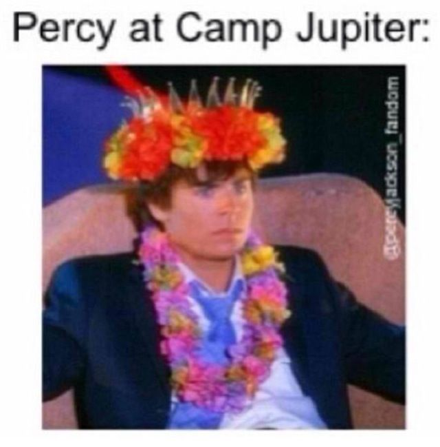 Wasn't this also Jason at Camp Half-Blood when he didn't want to be stared at. It also includes Piper and Leo.