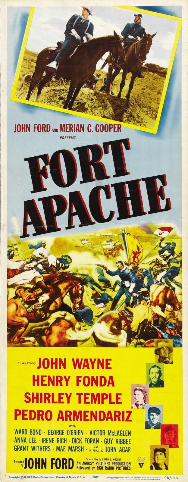 Fort Apache es una película dirigida por John Ford en el año 1948 y con John Wayne y Henry Fonda como actores principales. Es la primera película de la Trilogía de la caballería, que completan La legión invencible y Río Grande.