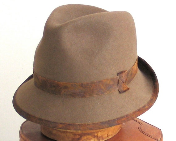 Felt Fedora Hat men Fall Fashion Winter by katarinacouture on Etsy, $50.00