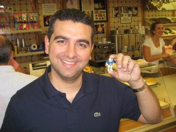 coltsguy with the Cake Boss in his Hoboken, NJ shop. 2009.