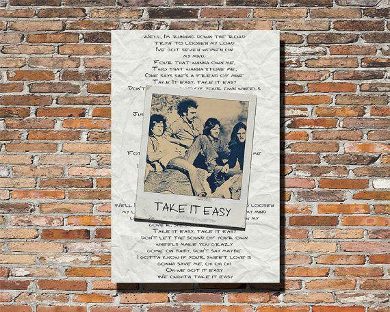 The Eagles Take it Easy Eagles Lyrics Take by PrintableSongParts