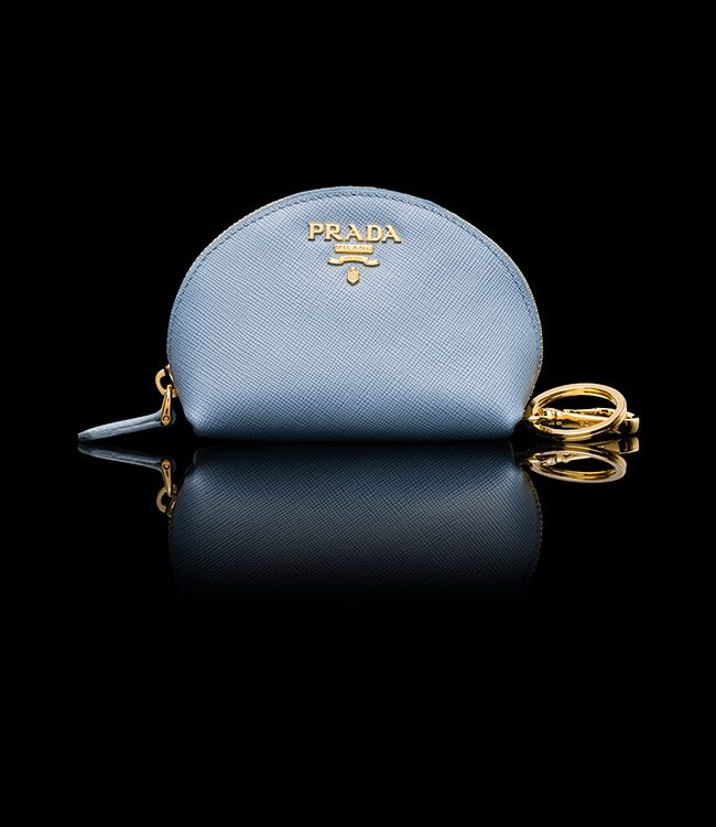 Prada Outlet 2014,,1Prada Saffiano leather coin purse PALE BLUE ...