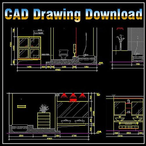 ★【Toilet Design Template】★ Toilet Design Ideas  sanitary facilities. Bathrooms and pipe fittings Toilet equipment Decorative Elements CAD Library |  AutoCAD Blocks | AutoCAD Symbols | CAD Drawings | Architecture Details│Landscape Details