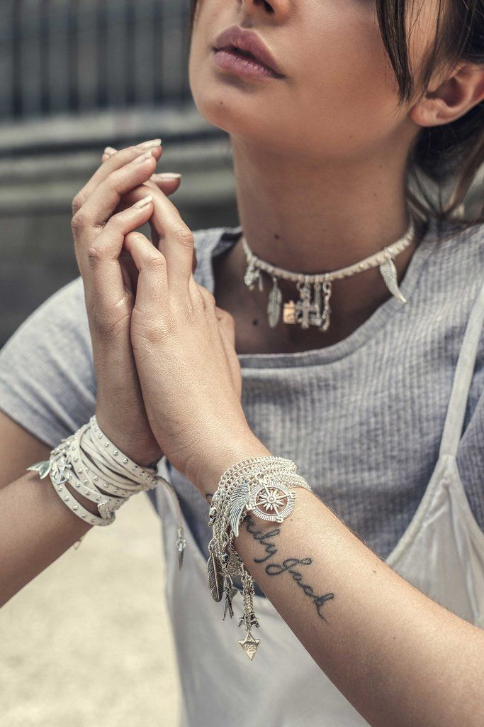 Leather Wrap White with Silver Studs and Charms. Universal Love chain wrap by Loca Wild. Also wears as a choker! Shop now. Choose your charms,