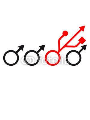 Be Different Nerd Geek Symbol Zeichen Männlich usb