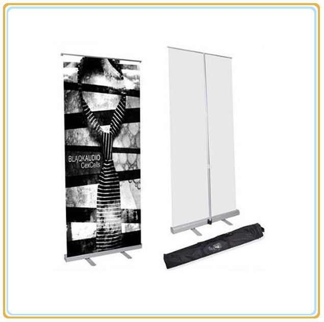 Wide Base Rollup Banner Stand / Banner Rollup Display