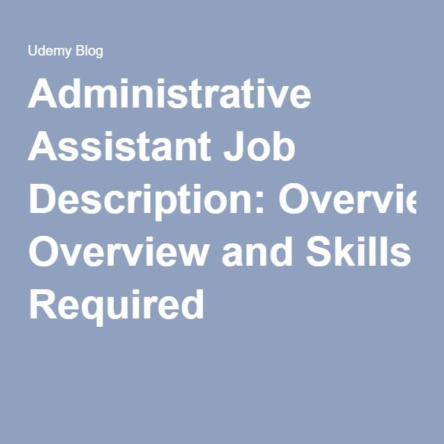 The  Best Administrative Assistant Job Description Ideas On