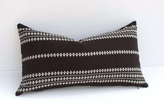 Modern Black White Outdoor Pillow Cover